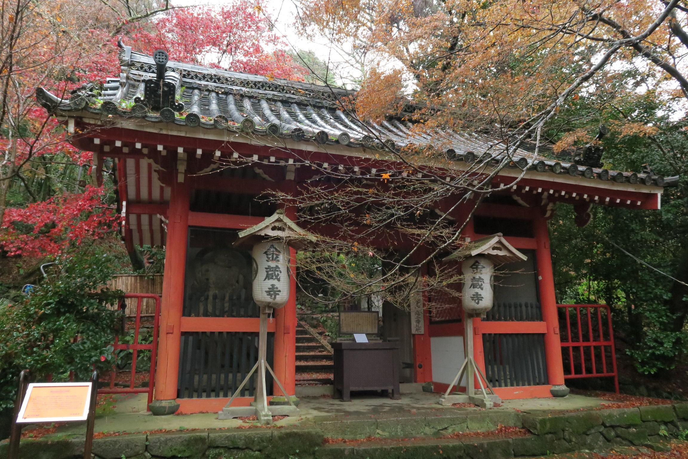 善峯寺から近い金蔵寺。自家用車でないとアクセスが大変ですが、タイミングが良いと紅葉も綺麗なお寺です