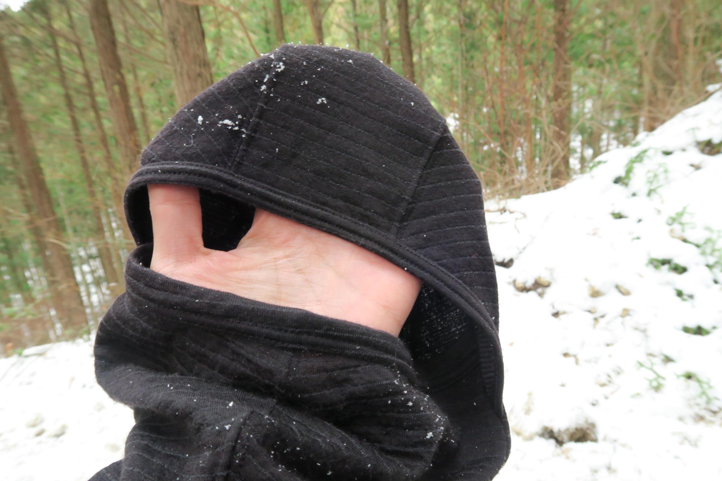 きょうはフェイスマスクが大活躍!普段は使わずにリュックの中か、ネックウォーマーとして利用しています。