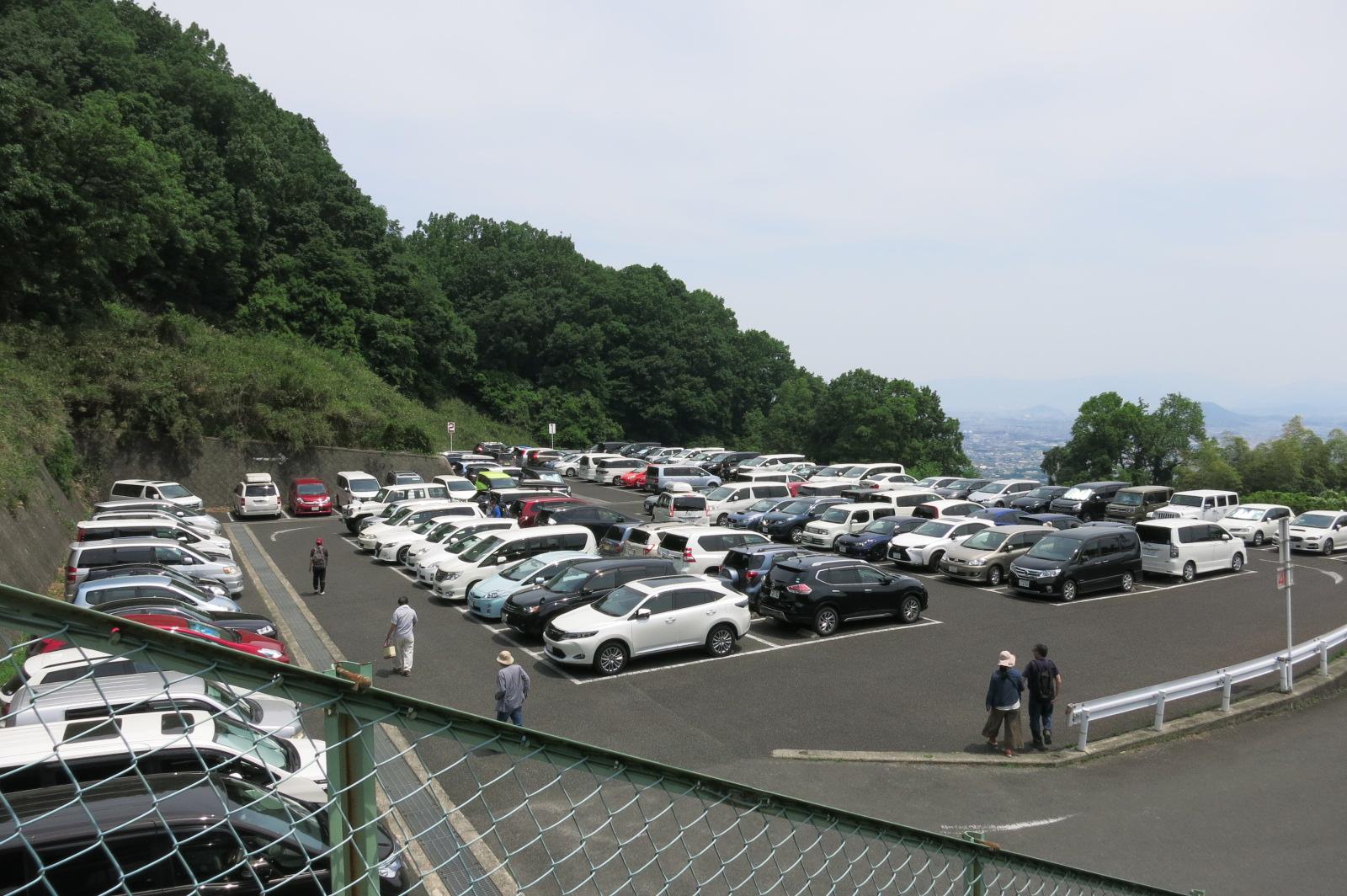 周辺の駐車場も待ちの状態。ピーク時は、駐車場も1時間待ちになります。(驚)