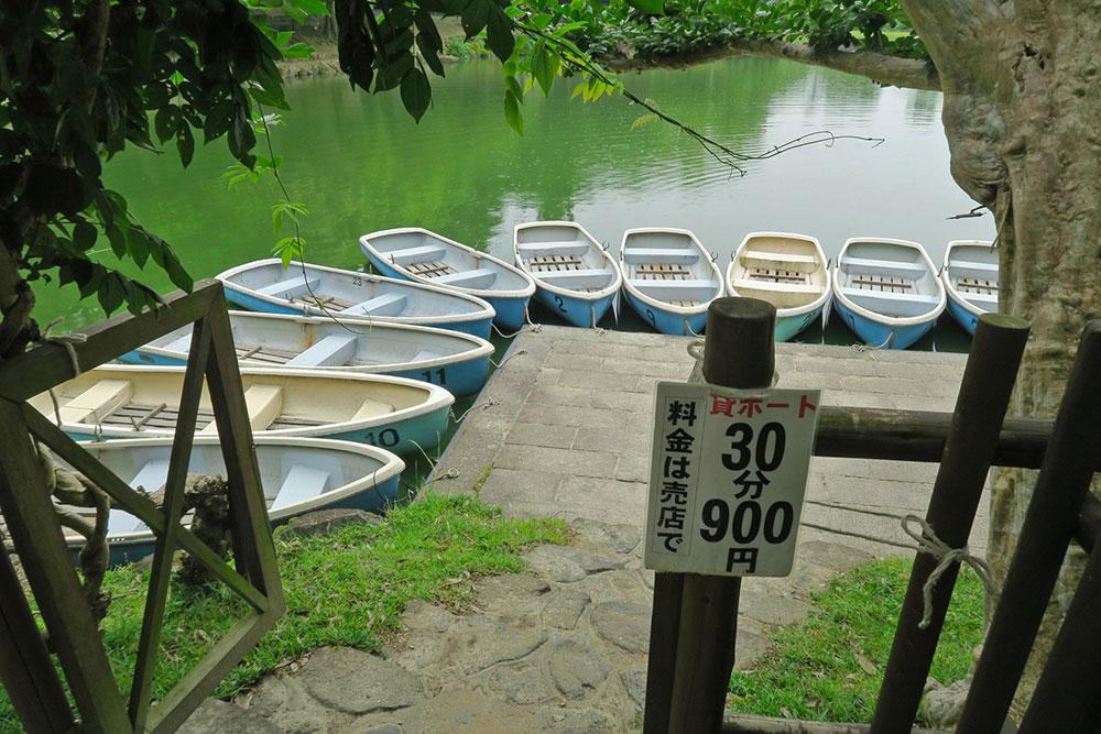 奈良公園 浮見堂 ボート貸し