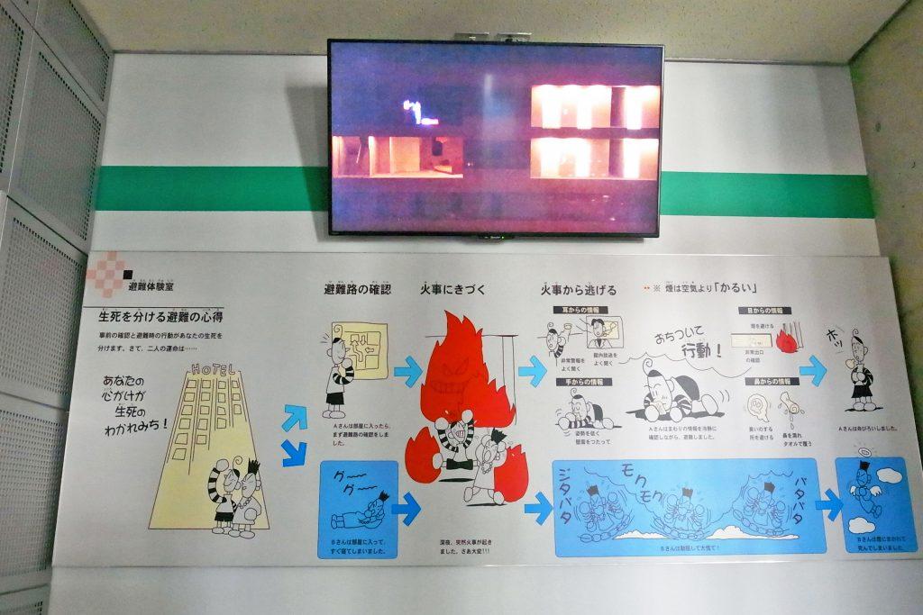 京都市市民防災センター 避難体験コーナー