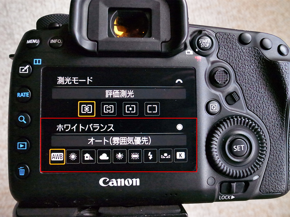 Canon EOS 5D Mark Ⅳ ホワイトバランス