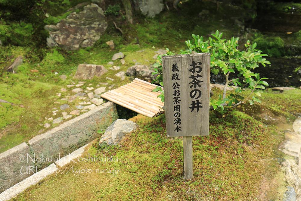 銀閣寺 お茶の井 湧き水