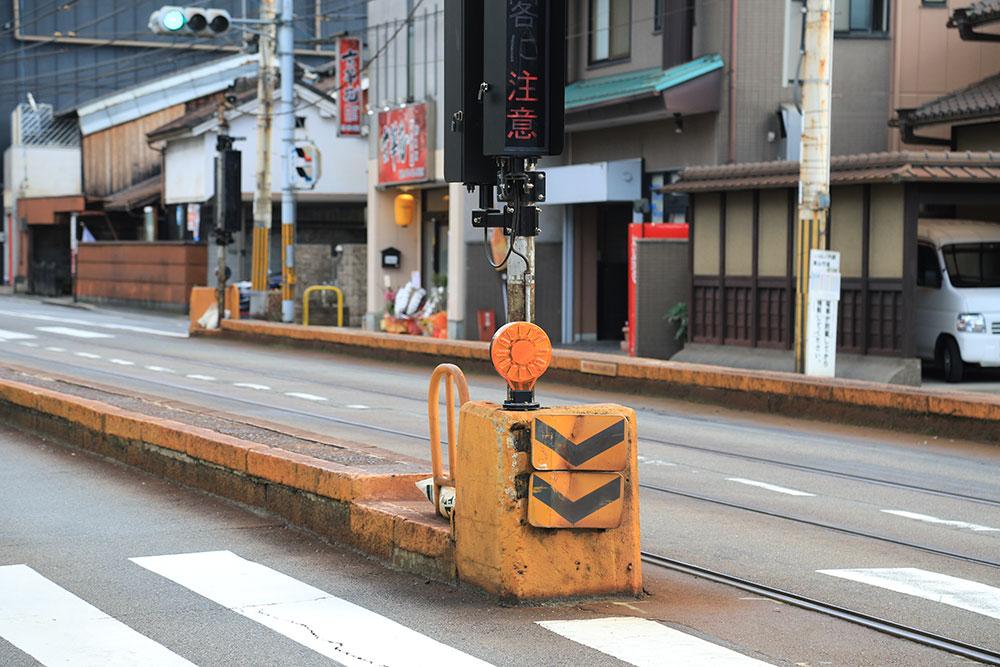 嵐電・山ノ内駅と四条大宮駅。路面電車