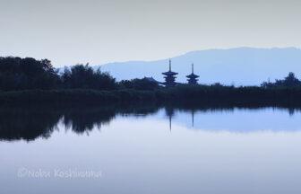 薬師寺 世界遺産 東塔 西塔