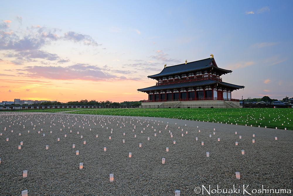 平城宮跡 第一次大極殿 夕焼け イベント
