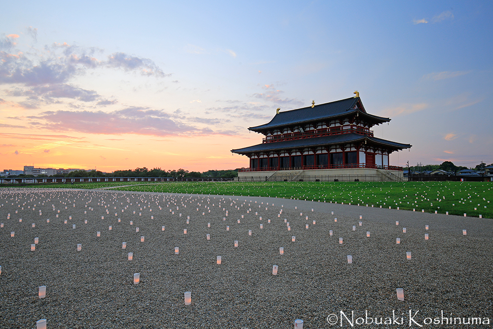 Heijo Palace Ruins 1st Daigokuden Sunset Event