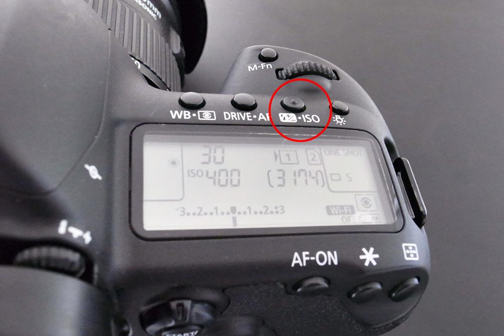 EOS 5D ISO感度設定ボタン
