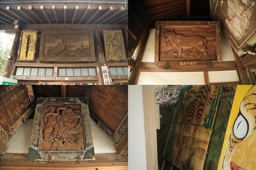 信貴山 朝護孫子寺 寅の木彫り